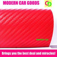 Wholesale 127cm x 30m red 3d carbon fiber vinyl film car vinyl car wrap practicable car stickers