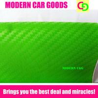 Wholesale 127cm x 30m green 3d carbon fiber vinyl film car vinyl car wrap with air free bubbles car stickers