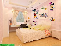 Free shipping ,mickey and minnie Combination Wall Stickers, HL5621+DX227 cartoon sticker