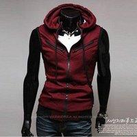 012 autumn outfit hooded individuality zipper sleeveless waistcoat