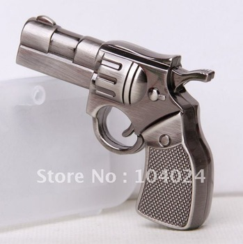 4GB 8GB 16GB 32GB metal gun handgun pistol shape USB 2.0 flash memory Pen drive