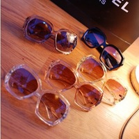 Free Shipping Min.order $15_ Fashion Crystal Texture Heavy Sense Of The IT Specifically Designed Eyewear Sunglasses