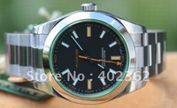 Brand New Mens Mechanical Milgauss Green V Watch Stainless Steel Men Watches Business Wristwatch