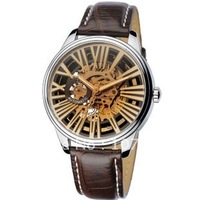 Free Shipping  Men&#39;s Hollow Dial Leather Strap Old Fashion Mechanical Watch