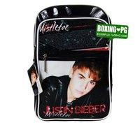 hot sale 2014 new style high quality Justin Bieber satchel shoulder bag casual bag soft pu bag student backpack birthday gift