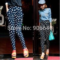New Fashion Knitting K272 2014 summer women's pants sexy polka dot prints casual harem pants wholesale and retail FREE SHIPPING