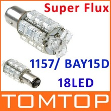Red 1157 BAY15D 18 Super Flux LED Car Brake Tail Light Bulb Lamp 10pcs/lot free shipping dropshipping Wholesale(China (Mainland))