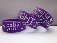 "Baby You Light Up My World Like Nobody Else One Direction Beautiful Wristband,1"" color printed silicone bracelet,50pcs/lot"