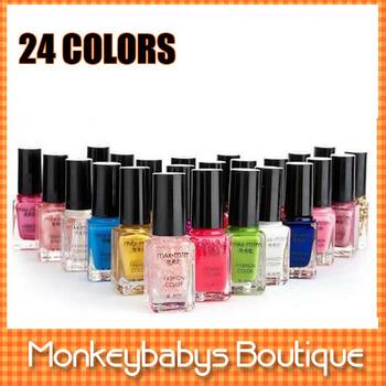 2013 New fashion Enamel 24 colours limited edition nail polish color oil set Nailpolish Art Nail Varnish Free Shipping #JNG05
