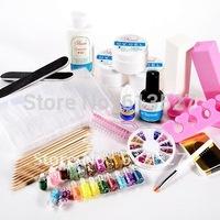 Uv gel set + Manicure Set + Nail art toll set Free Shipping