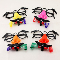 Hotsale 20pcs/lot fashion halloween glasses mustache mask Blow dragon toy