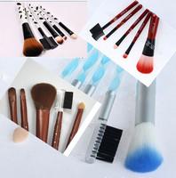 Wholesale Make Up Bruhes 5 PCS Makeup Brush Set Lip brush Eyelash brush Cosmetic Brusher 5sets/lot Free Shipping