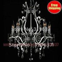 Hot !5 light Chandelier Lighting Modern crystal Black chandelier lights blacklighting fashion crystal chandelier light