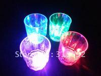 Free Shipping 24pcs/lot LED cup flashing shot glasses led shot cup for Christmas