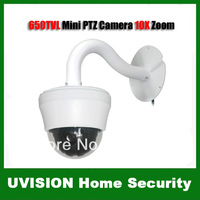 4 Inch 650TVL 10X MINI CCTV PTZ Surveillance Dome Security Camera,752 x 582 Effective Pixels,DHL free shipping