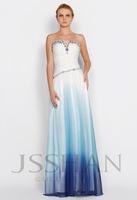 11P032 A-Line Strapless Rhinestoned Sexy Junoesque Elegant Gorgeous Unique Brilliant Chiffon Evening Dress Short Prom Dress