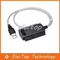 Free shipping USB 2.0 to IDE SATA 2.5 3.5 Hard Drive Converter Cable 60pcs/lot Wholesale