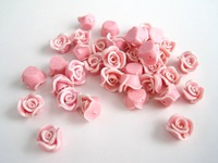 0.5-1CM diameter soft ceramic  flower accessory,mixed color and designs necklace accessories