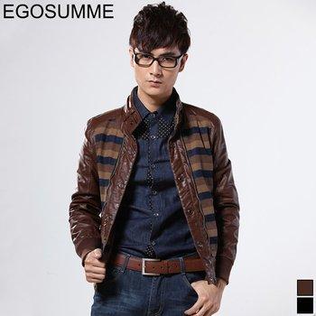 men coat M---XXL Corea vogue close-fitting pu leather Apparel Men's Outerwear Men's Jackets FLM008