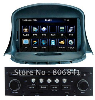 Car DVD For Peugeot 206 With GPS Car Radio Video CanBus ATV BT RDS 4G SD map