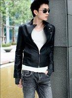 Fashion Classic Men's PU Leather Coat jacket /Korean style men PU coat +free shipping