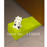 Lovely Melted Chocolate Cute Cartoon Cow Shape Door Stops Stopper Doorstop Ideal Plastic Cement For Home Household 1pc ##745
