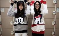 HOT 2012 autumn and winter  Mickey Mouse  sweatshirt hooded cartoon MICKEY hoody lovers shirt