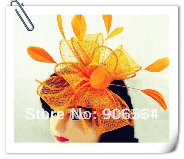 Free shipping 8color can be chosen sinamay fascinator hats ,good bridal wedding hats,cocktail hat,Very nice,MSF096(China (Mainland))