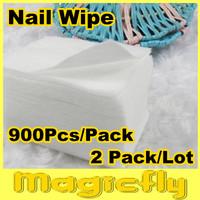 [MJJ-001]2x900pcs/pack Professional Lint Free Nail Wipes Soft Cotton Nail Wipe Polish Remover+ Free Shipping