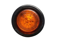 "Free Shipping (10) Brand New 12V 2"" Round LED trailer/Truck/Boat/RV Clearance Marker Lights + PVC Grommets 9 LEDs"