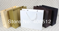 500pcs 32 Wx10 side width x 26cm H rope handle 250gsm paper customizing shopping bag printing