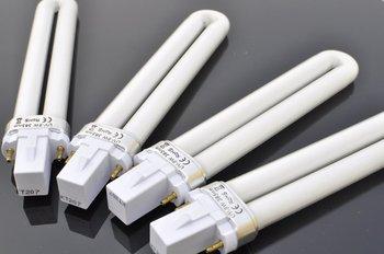 Wholesale 9W Nail UV Gel Machine Lamp Light  Bulb Tube for Nail Dryer, 12pcs/lot + Free Shipping