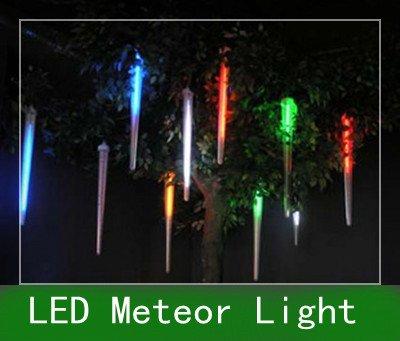 20pcs LED colorful meteor flash outdoor romantic decorative light , Christmas festival LED digital colorful tube 80cm 220v -240v(China (Mainland))