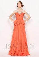 Sleeveless Ruches Junoesque Elegant Gorgeous Luxury Rhinestone Layered Neck Chiffon Evening Dress Girls Party Dress