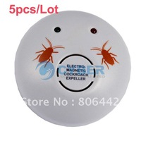 Free Shipping 5pcs/Lot New Extra Electronic Ultrasonic Indoor Cockroaches Expeller Bug Scare Machine Pest Control Repeller 4589