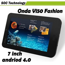 HOT SELLING!! 7 inch Onda Vi50 fashion Allwinner A13 Android 4.0 Wifi 3G Camera 5-point Capacitive Touch Screen Tablet PC(China (Mainland))