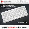 FedEx / DHL Free Shipping, Bluetooth keyboard for Android Apple iphone, 100pcs/lot (white)