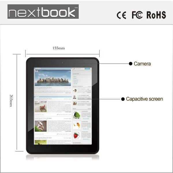 Nextbook NEXT8D12F 8 Inch Android Tablet PC with AML 8726-MX Dual Core