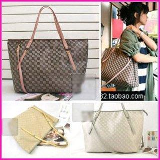 New Jacquard Monogram Tote handbag w/Purse bag 3colors
