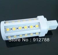 Free shipping wholesale 850LM 200V-230V 9W G24 LED Lamp 44SMD 5050 LED Corn Light LED Bulb Lighting Warm White 10pcs/lot