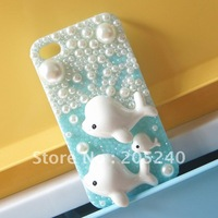 free shipping! really so cute DIY bling bling phone deco kits dolphin kits 475pcs mixed(no phone case,no glue)