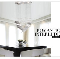 Free shipping wholesales Romantic Hot Sales Heart Shape Crystal Chandelier Ceiling Lamp By EMS ETL8083