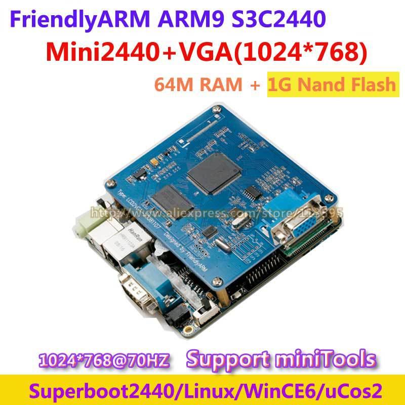 FriendlyARM ARM9 Kit MINI2440 + VGA 1024 * 768, 64M Ram+1G NAND Flash, S3C2440 2440 ARM9 Development Board Learning Board(China (Mainland))