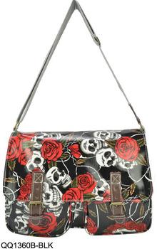 Fashion Floral Skulls Design Children School Bags Ladies Shoulder Messenger  bags Handbags QQ1360