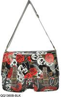 Wholesale And Retail Fashion Floral Skulls Design Children School Bags Ladies Shoulder Messenger Handbags Free shipping /QQ1360