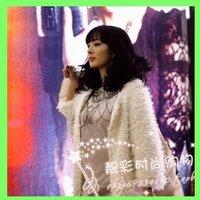 Autumn Winter Fashion Beige Faux Lamb Fur Coat Long Size For Women Girl Outwear Ladies' Coats 2013 Free Sale