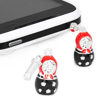 Excellent Free Shipping, 15pcs/lot For iPhone iPAD Anti Dust Russian Doll Earphone Jack Plug ADP026