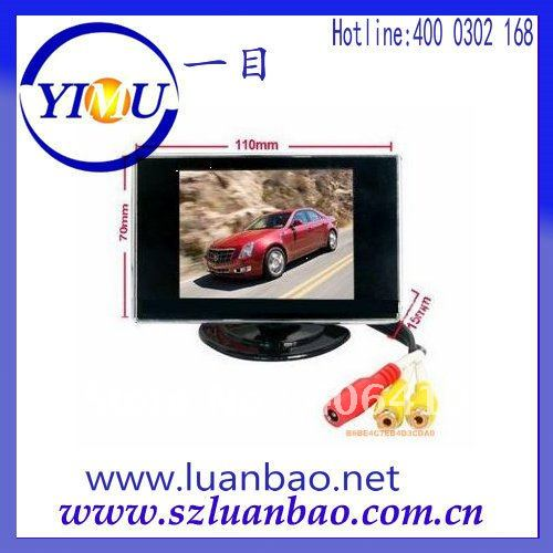 3.5 inch car rearview monitor supplier with adjustable bracket free shipping sale(China (Mainland))