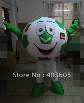 2012 Hot Sale ! New Soccer Ball Mascot Costume Soccer Mascot Costume Soccer Ball Fancy Dress Free Shipping