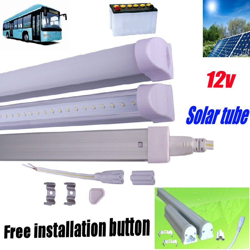 Free shipping 25pcs/lot led tube t5 light 12w 900-1100lm 90cm 12V/24v solar light led fluorescent tube high power best selling(China (Mainland))